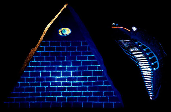Resonance in la man the most intriguing artifact of the group is a representation of a pyramid above with 13 horizontal divisions or steps 3 sides on the inlaid triangular gumiabroncs Choice Image