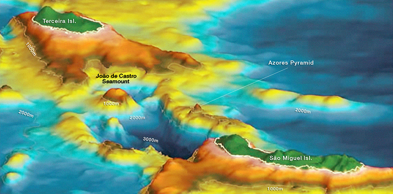 Fibonacci alignments of the Azores Pyramid & submerged city of Poseida Submerged3